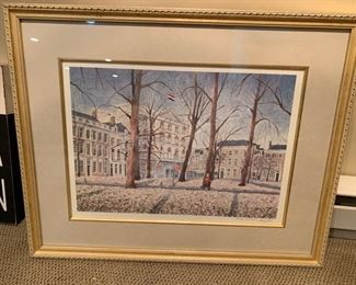 "118. Signed Lithograph ""Voorhout"" by Lu 55/100"