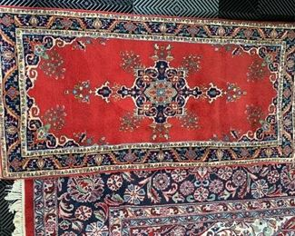 "Navy & Red Oriental Runner (24"" x 48"")"
