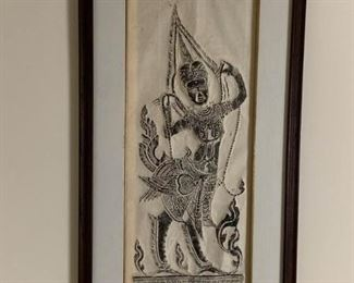 Bangkok temple rubbings on molded rice paper  https://ctbids.com/#!/description/share/232074
