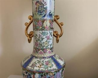 Ornately painted tall Chinese lamps. https://ctbids.com/#!/description/share/232116