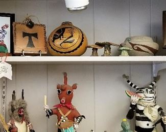 Native American Art including Kachinas of all kinds too.