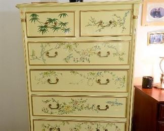 Oriental tall dresser. Beautiful color. So outstanding.