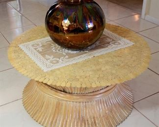 Round Bamboo table.