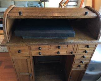 Watchmakers Oak Rolltop Desk