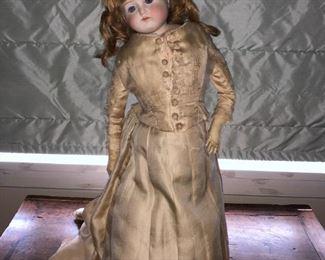 """24"""" tall antique doll w/ human hair"""