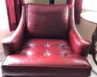 Pair of Matching Leather Club  Chairs