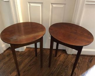 pair of oval side tables 26W x 16D x 24H