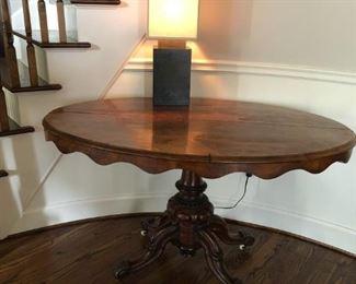 Victorian Oval Walnut Table
