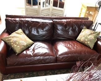 Arhaus Leather Couch