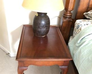 Queen Anne style side table with raised lip