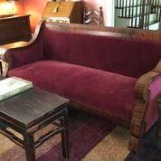 Period Empire Velvet Couch