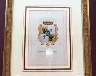 Framed Coat of Arms - Firenza