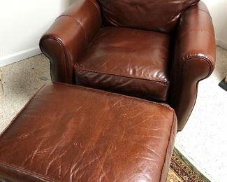 Arhaus Chair Ottoman