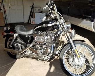 Harley -Davidson Motorcycle. Black and Silver