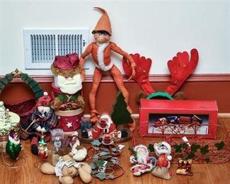 9. Large Mixed Lot Christmas Holiday Collectibles