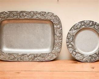 10. Two 2 Aluminum LONGABERGER Casserole Dishes