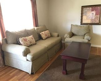 #2 Sofa $100 #3 Chair $50 #5 Coffee Table Solid Wood $40