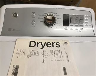 #9 GE Dryer $300 #10 GE Washer $300 Less than one year old set.
