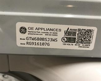 #9 GE GE Dryer $300 #10 GE Washer $300 The set is less than one year old.