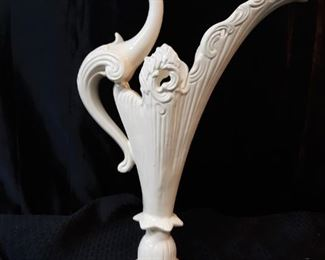 White Glass Birdshaped vase