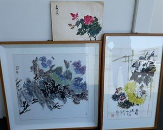 Asian watercolor prints