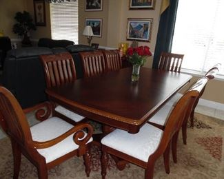 Large Dining Table, shown with leaf in place