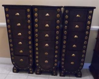 Very unusual  piece, 3 sections, 6 drawers in each