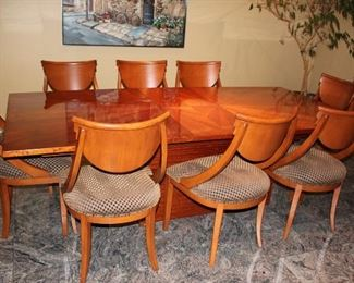 Starburst Dining Room Table with 8 Chairs