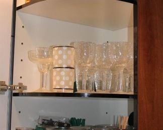 Assorted Glassware and Stemware