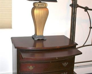 Pair of Lexington Night Stands and Lamps