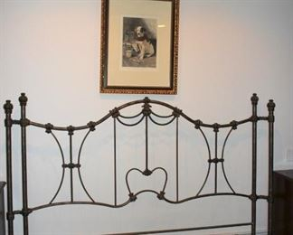 Metal Bed Frame and Art