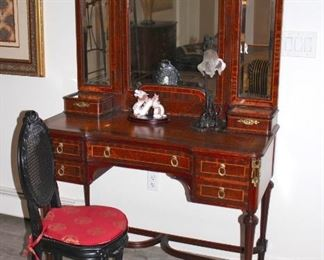 Vanity, Mirror and Chair