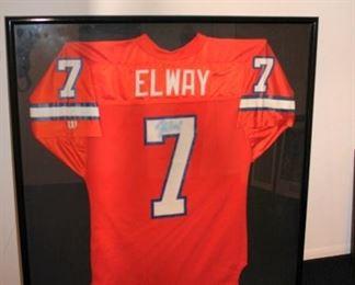 Framed Elway Jersey