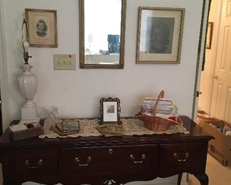 Dressing Table, Pictures,Frames, Mirror.