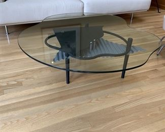Glass Scalloped edge and metal table