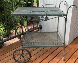 Wrought Iron Bar Cart