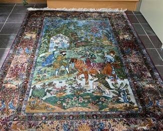 "Stunning Persian hand woven rug 58"" x 86"""