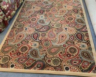 """Paisley rug  79"""" x 59 1/2"""""""