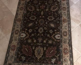 "Decorative Wool Rug 35"" x  62"""