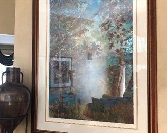"""Signed Traeger Original Landscape Artwork 35"""" x 47.5"""" Overall Size"""