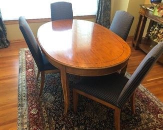"Drexel Oval Wood Dining Table 42"" x 64"""