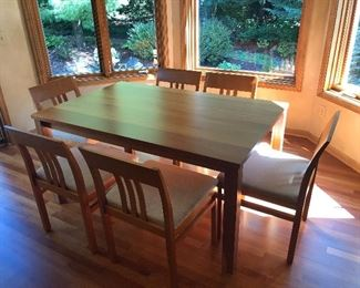 "Room & Board Solid Cherry Table 38"" x 60"" With 6 Chairs"