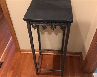 "13"" x 31"" Slate Topped Plant Stand"