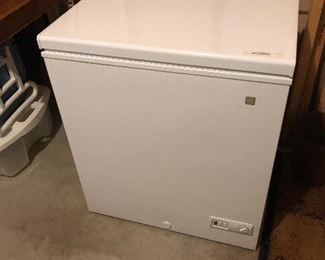 "GE Compact Chest Freezer 22""D x 28.5""W x 32.5""T"