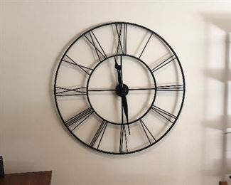 "45"" Decorator Wall Clock Sculpture"
