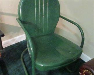 1950's metal lawn chair