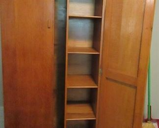 vintage oak armoire from England