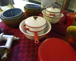 vintage crocks and pots