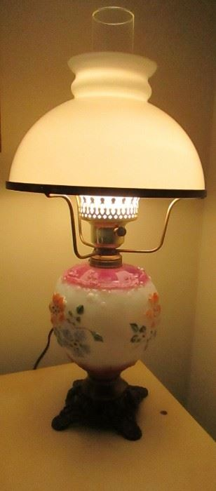 antique electrified lamp