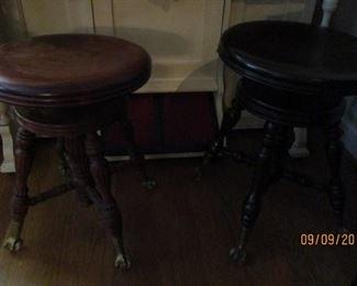 vintage organ stools
